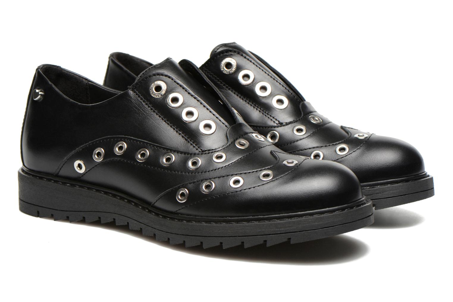 Lace-up shoes Love Moschino Love Dandy Black 3/4 view