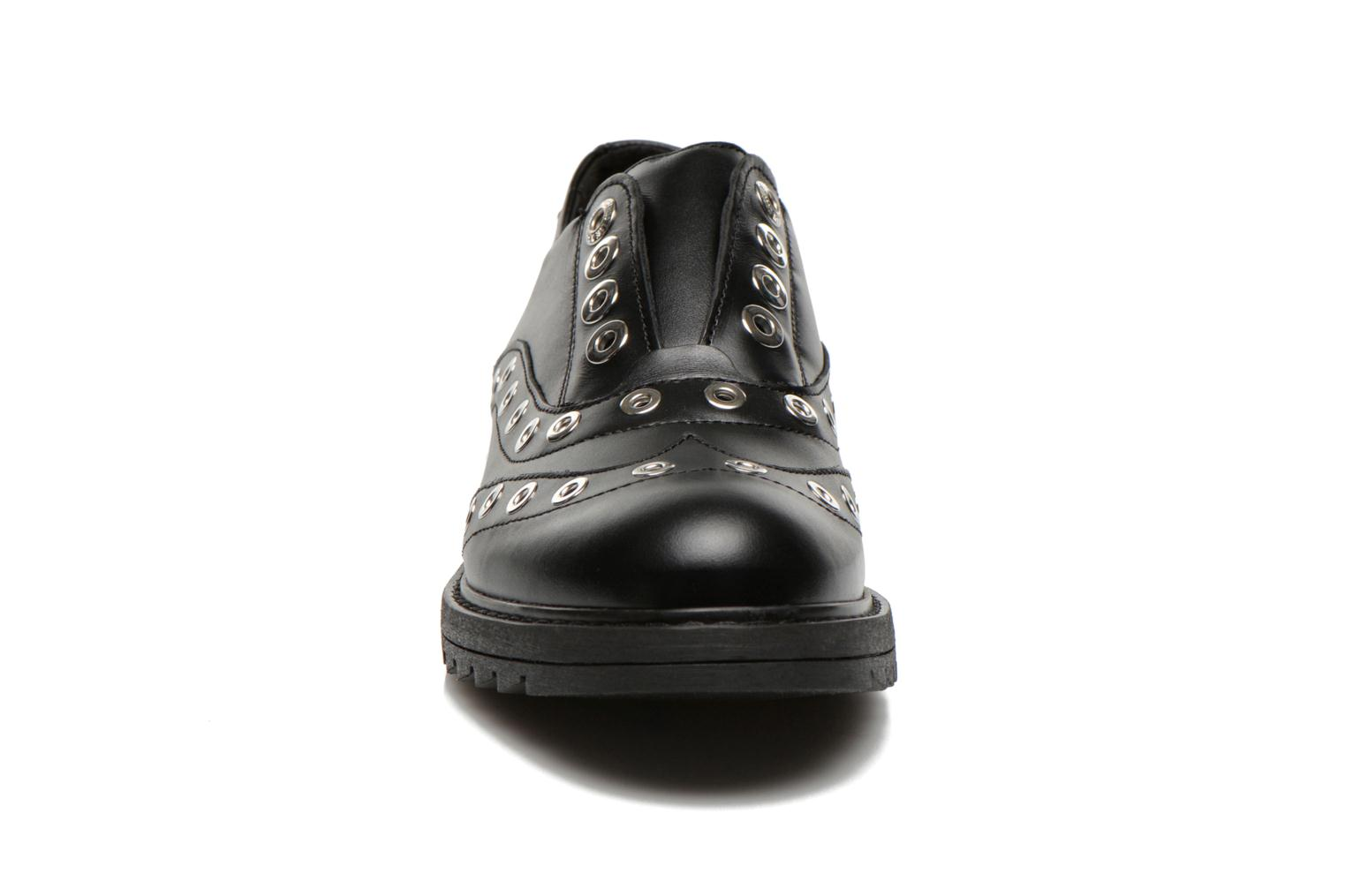 Lace-up shoes Love Moschino Love Dandy Black model view