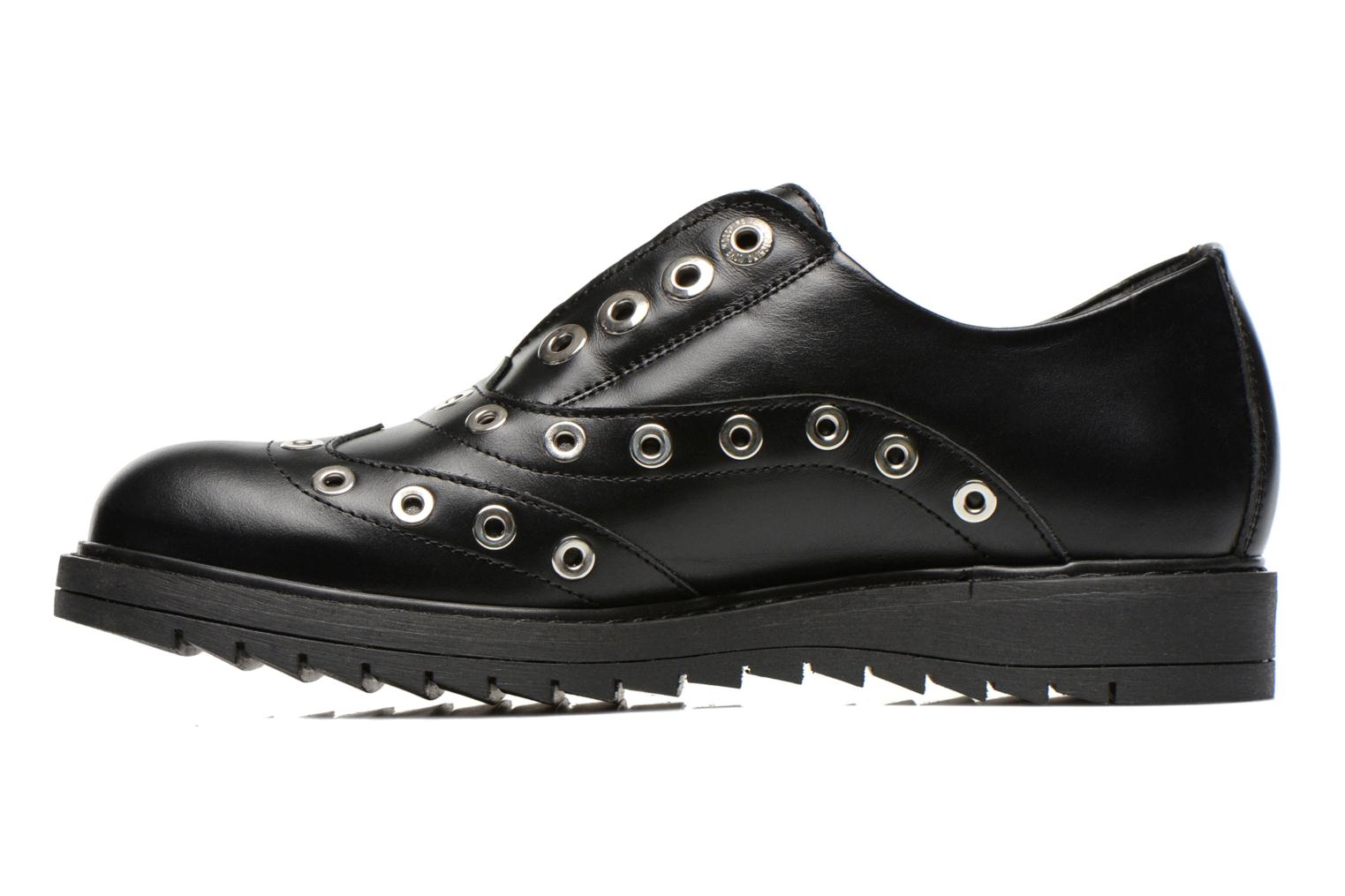 Lace-up shoes Love Moschino Love Dandy Black front view