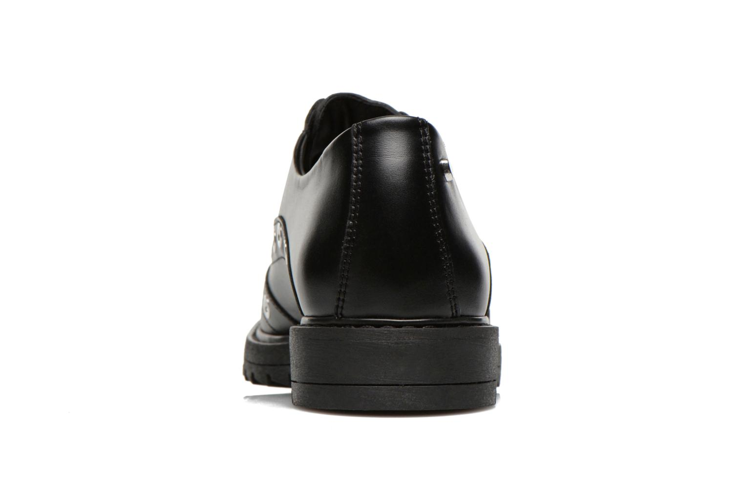 Lace-up shoes Love Moschino Love Dandy Black view from the right