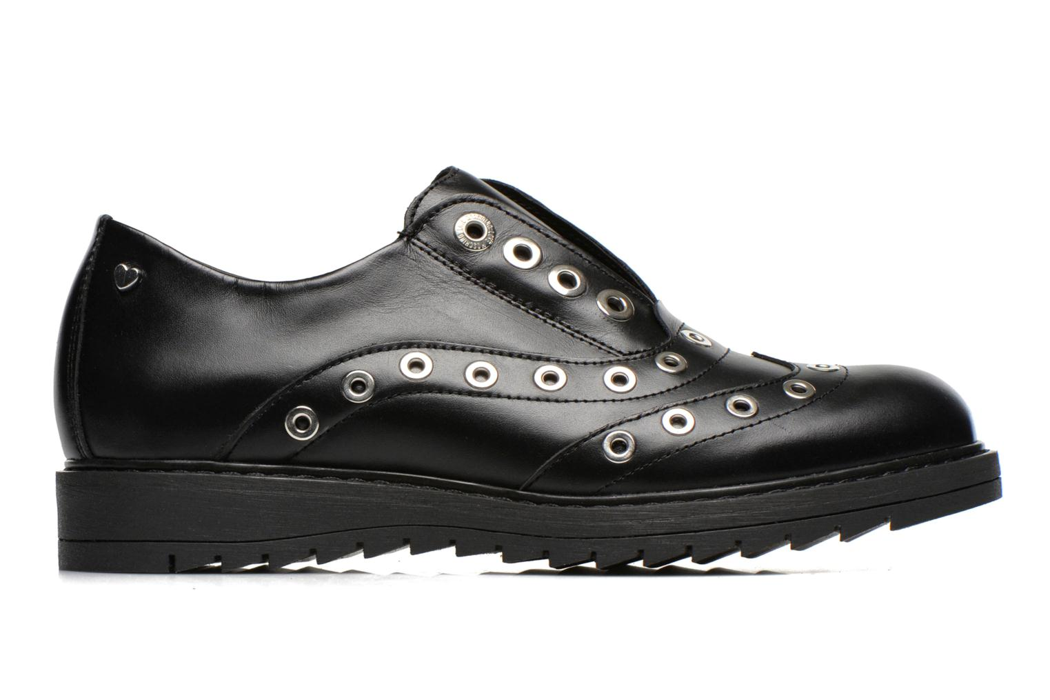 Lace-up shoes Love Moschino Love Dandy Black back view