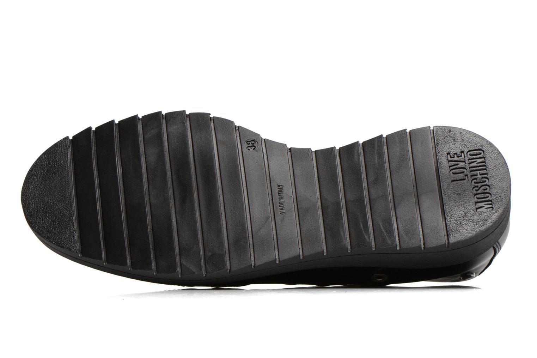 Chaussures à lacets Love Moschino Love Dandy Noir vue haut