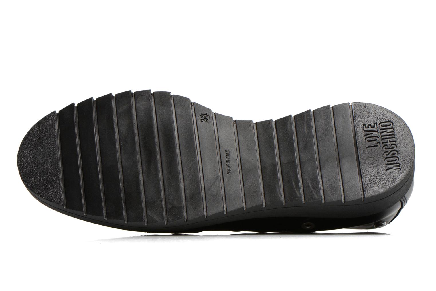 Lace-up shoes Love Moschino Love Dandy Black view from above