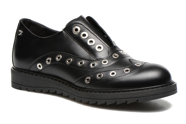 Chaussures à lacets Love Moschino Love Dandy Noir vue détail/paire