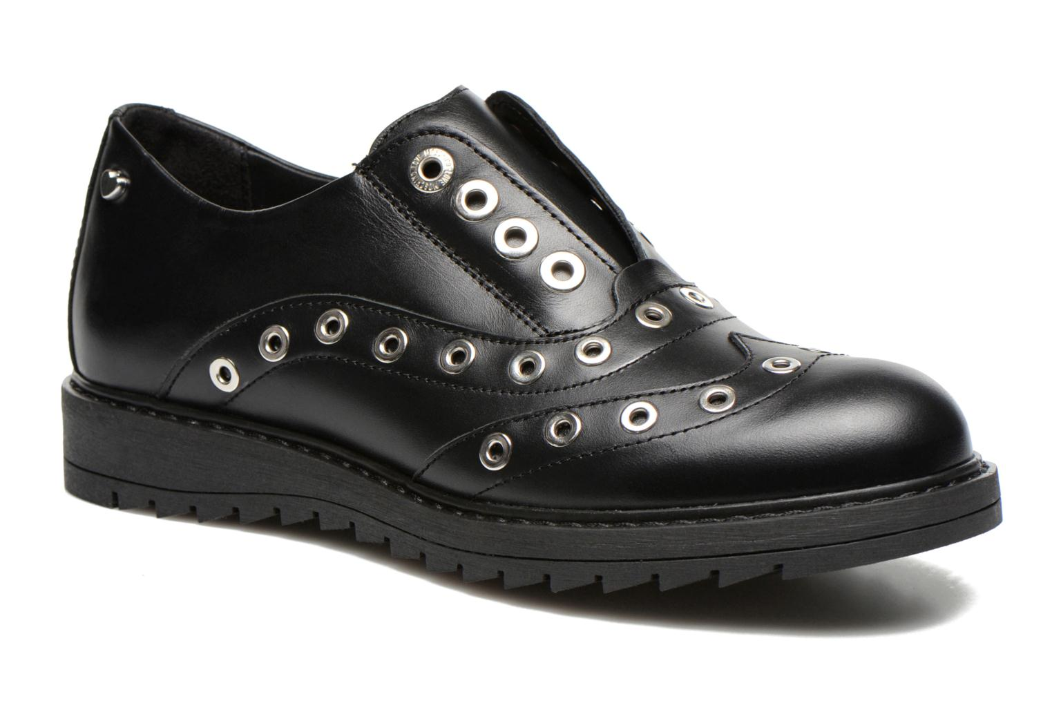 Lace-up shoes Love Moschino Love Dandy Black detailed view/ Pair view