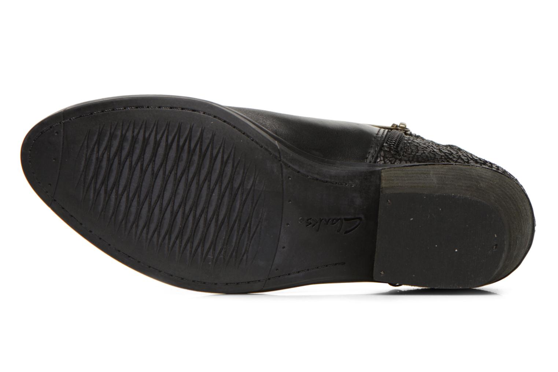 Bottines et boots Clarks Gelata Italia Noir vue haut