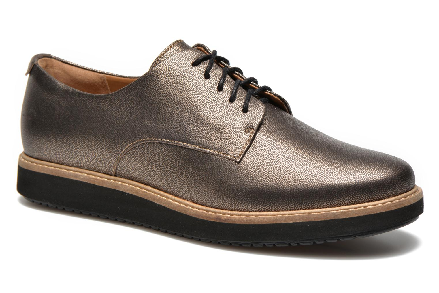 Lace-up shoes Clarks Glick Darby Bronze and Gold detailed view/ Pair view