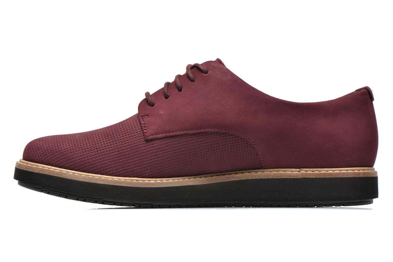 Chaussures à lacets Clarks Glick Darby Bordeaux vue face