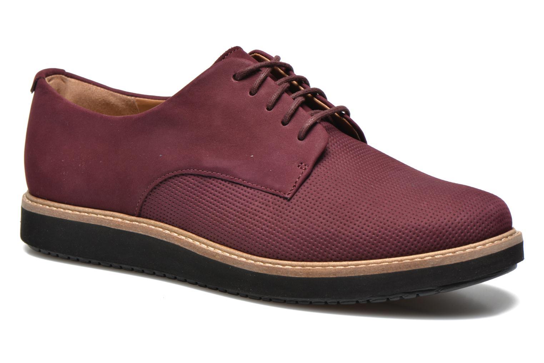Chaussures à lacets Clarks Glick Darby Bordeaux vue détail/paire