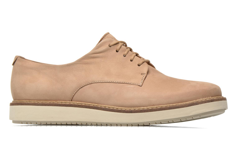 Chaussures à lacets Clarks Glick Darby Beige vue derrière