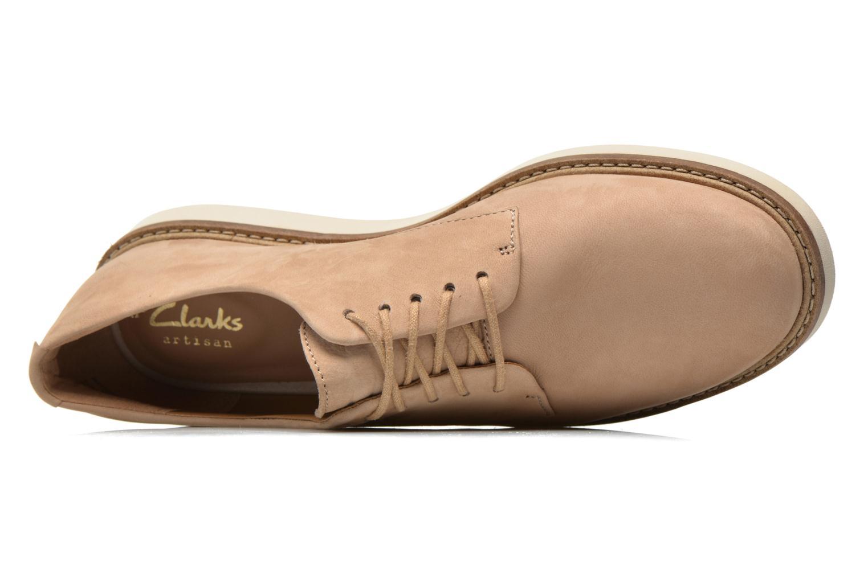 Chaussures à lacets Clarks Glick Darby Beige vue gauche