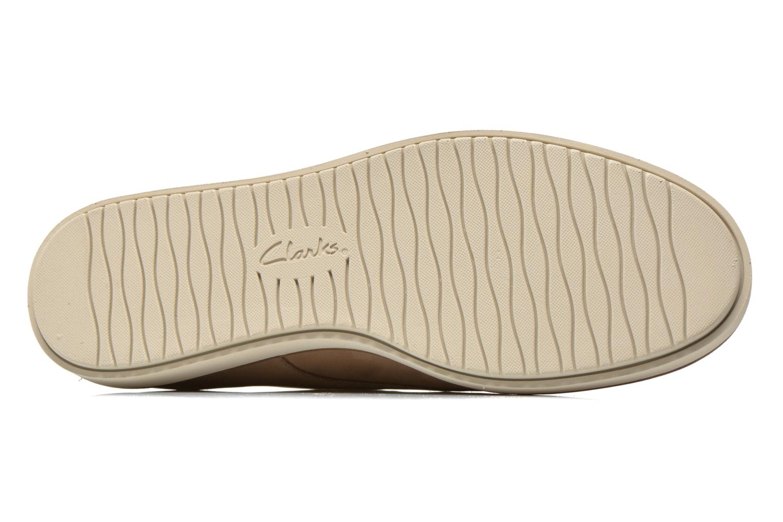 Chaussures à lacets Clarks Glick Darby Beige vue haut