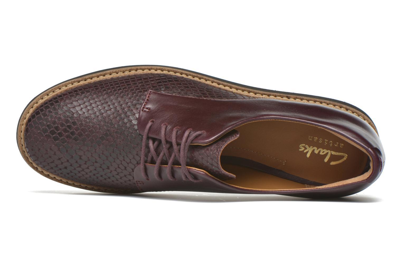 Chaussures à lacets Clarks Glick Darby Bordeaux vue gauche