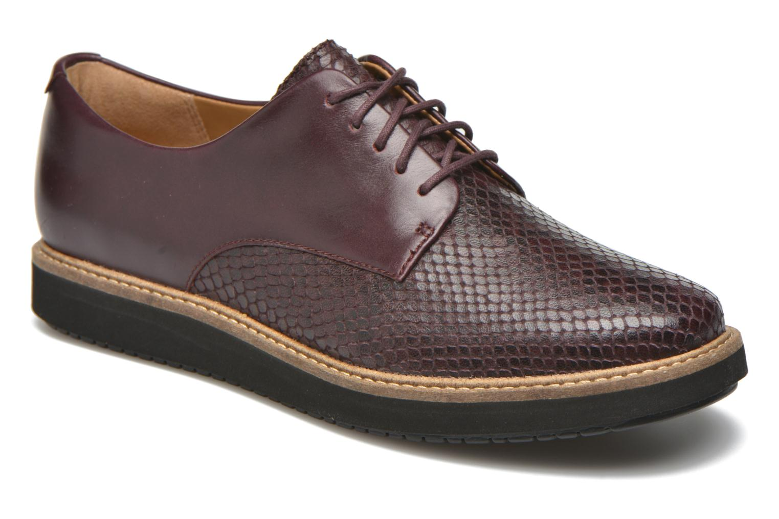 Lace-up shoes Clarks Glick Darby Burgundy detailed view/ Pair view