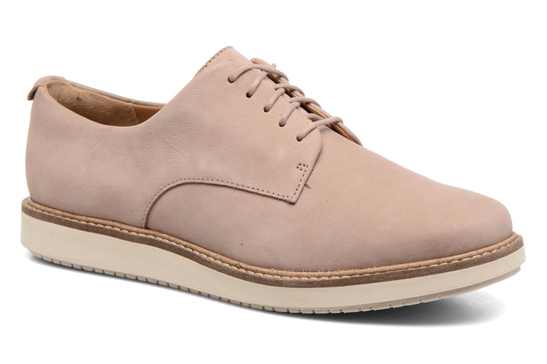 Chaussures à lacets Clarks Glick Darby Beige vue détail/paire