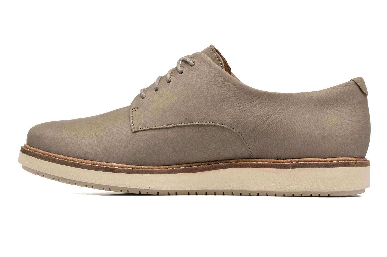 Chaussures à lacets Clarks Glick Darby Beige vue face