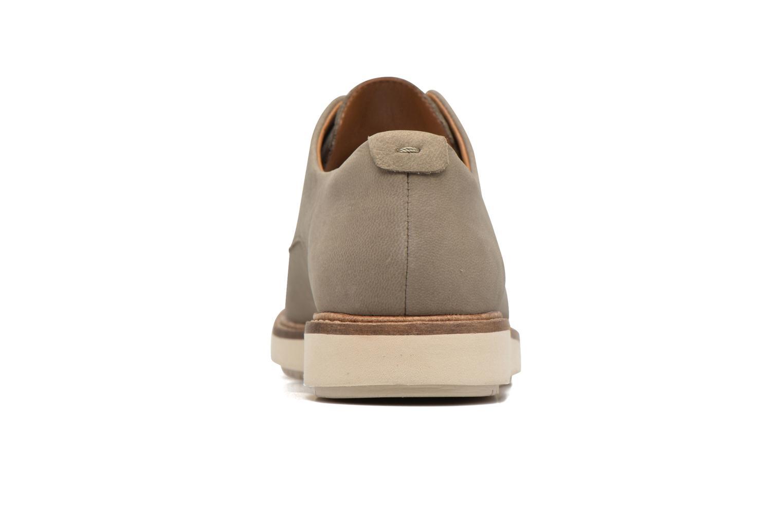 Chaussures à lacets Clarks Glick Darby Beige vue droite