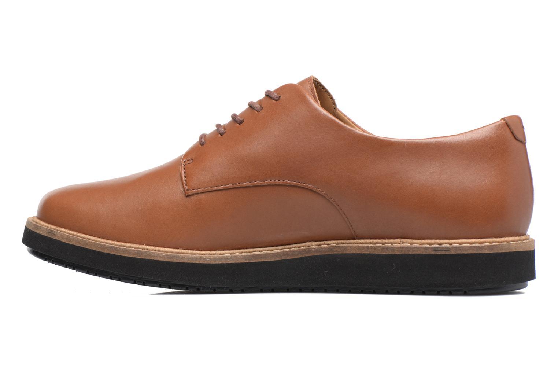 Chaussures à lacets Clarks Glick Darby Marron vue face