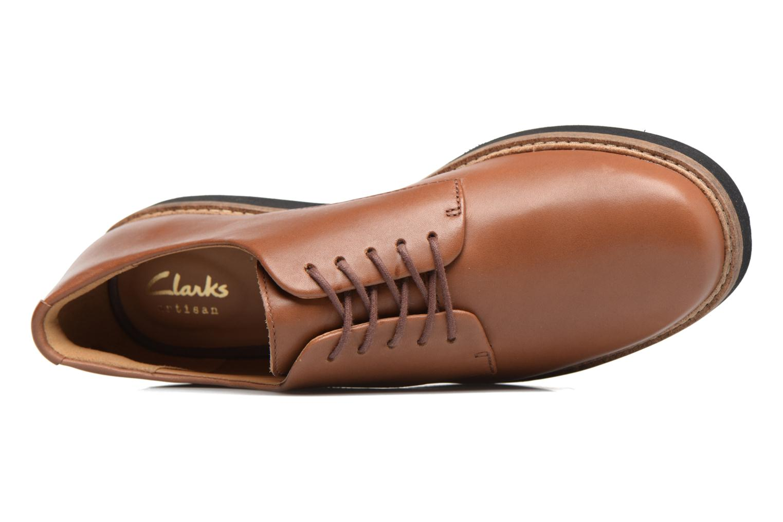 Chaussures à lacets Clarks Glick Darby Marron vue gauche
