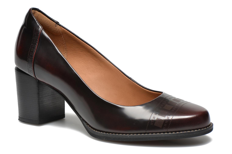 Tarah Sofia Burgundy leather