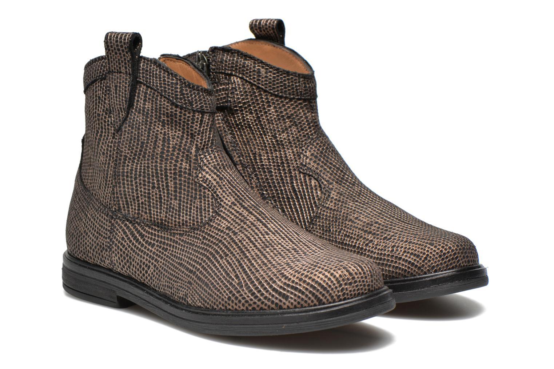 Bottines et boots Pom d Api Hobo boots sivar Or et bronze vue 3/4