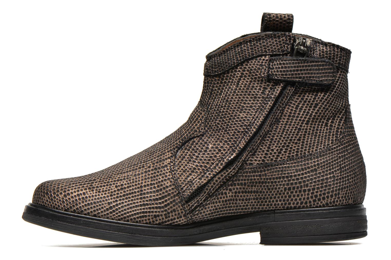 Bottines et boots Pom d Api Hobo boots sivar Or et bronze vue face