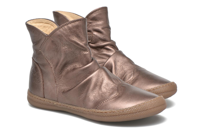 Bottines et boots Pom d Api New school pleats golden Or et bronze vue 3/4