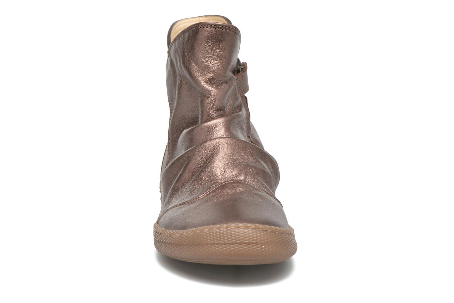 Bottines et boots Pom d Api New school pleats golden Or et bronze vue portées chaussures