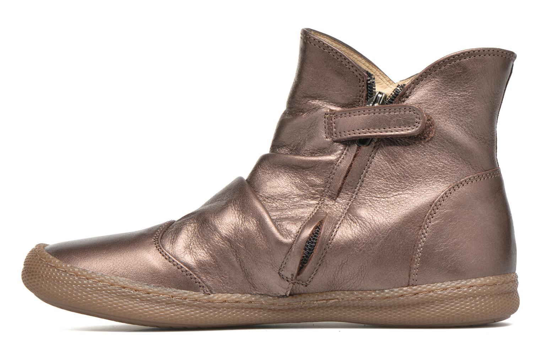 Bottines et boots Pom d Api New school pleats golden Or et bronze vue face