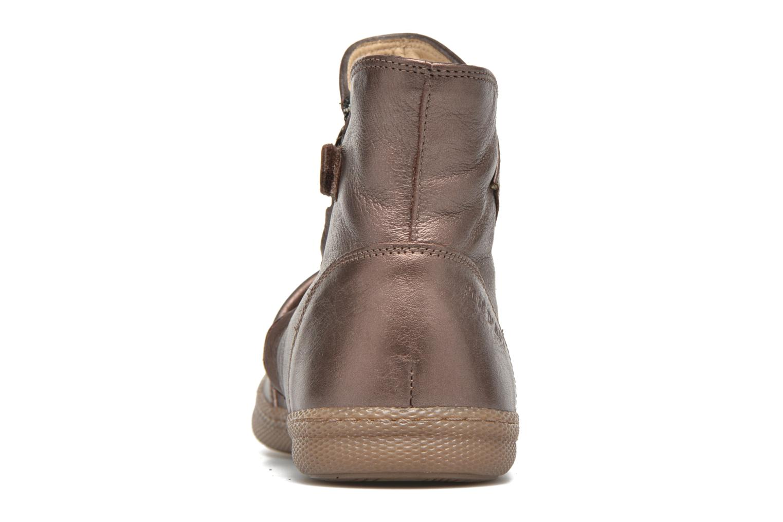 Bottines et boots Pom d Api New school pleats golden Or et bronze vue droite