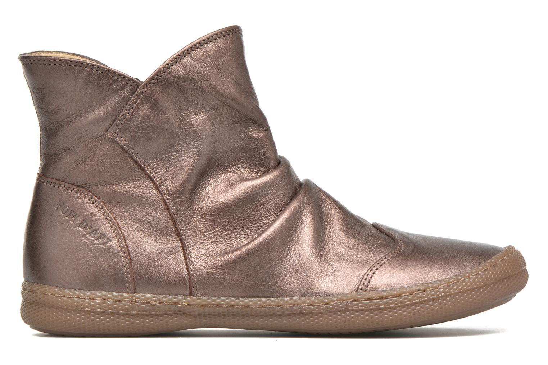 Bottines et boots Pom d Api New school pleats golden Or et bronze vue derrière