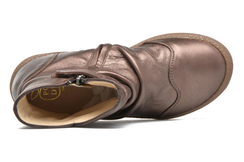 Bottines et boots Pom d Api New school pleats golden Or et bronze vue gauche