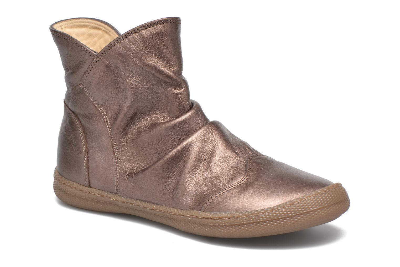 Bottines et boots Pom d Api New school pleats golden Or et bronze vue détail/paire