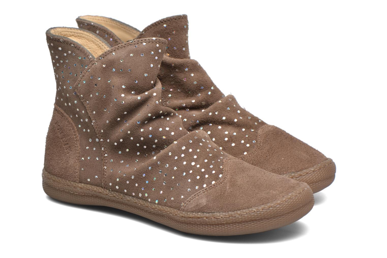 Bottines et boots Pom d Api New school pleats golden Beige vue 3/4