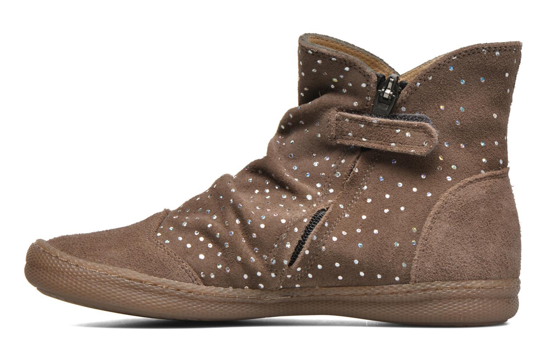 Boots en enkellaarsjes Pom d Api New school pleats golden Beige voorkant
