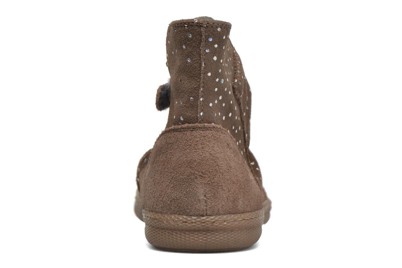 Bottines et boots Pom d Api New school pleats golden Beige vue droite