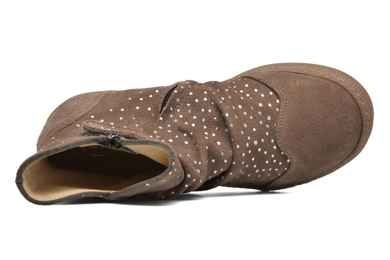Bottines et boots Pom d Api New school pleats golden Beige vue gauche