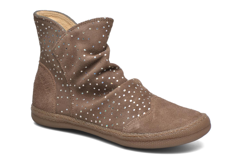 Bottines et boots Pom d Api New school pleats golden Beige vue détail/paire