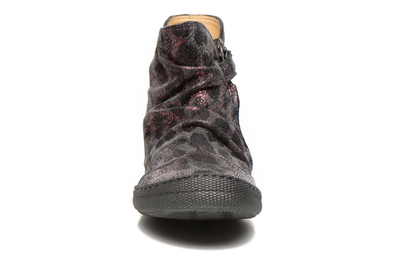 Bottines et boots Pom d Api New school pleats leo Bordeaux vue portées chaussures