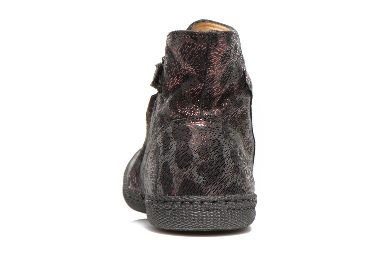 Bottines et boots Pom d Api New school pleats leo Bordeaux vue droite