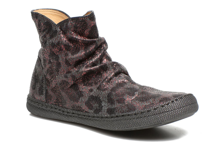 Bottines et boots Pom d Api New school pleats leo Bordeaux vue détail/paire