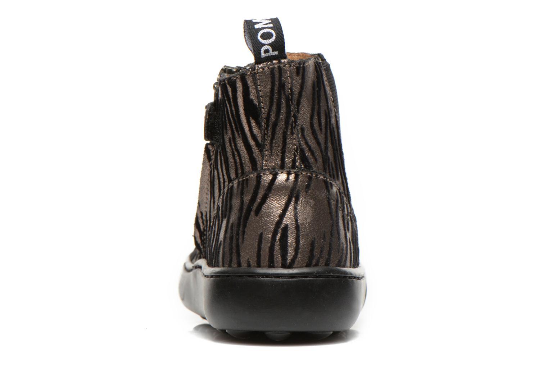 Bottines et boots Pom d Api Walk jodpur basic fixell Noir vue droite