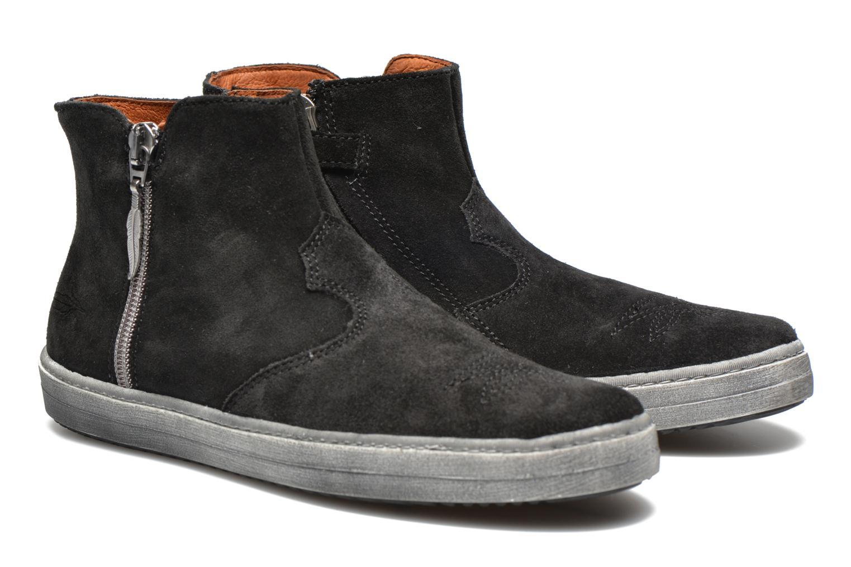 Bottines et boots Shwik ADDICT ZIP WEST Noir vue 3/4