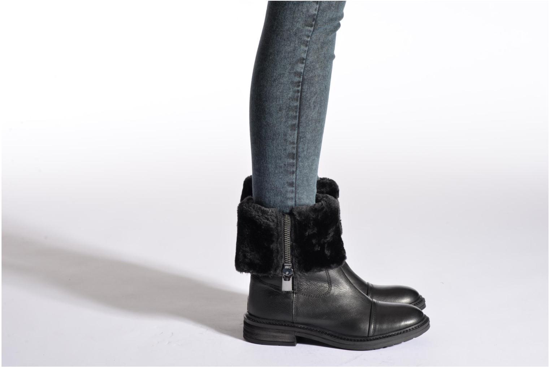 Bottines et boots Les Tropéziennes par M Belarbi Loutre Noir vue bas / vue portée sac
