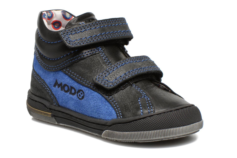 Sko med velcro Mod8 ZEPHIR Sort detaljeret billede af skoene