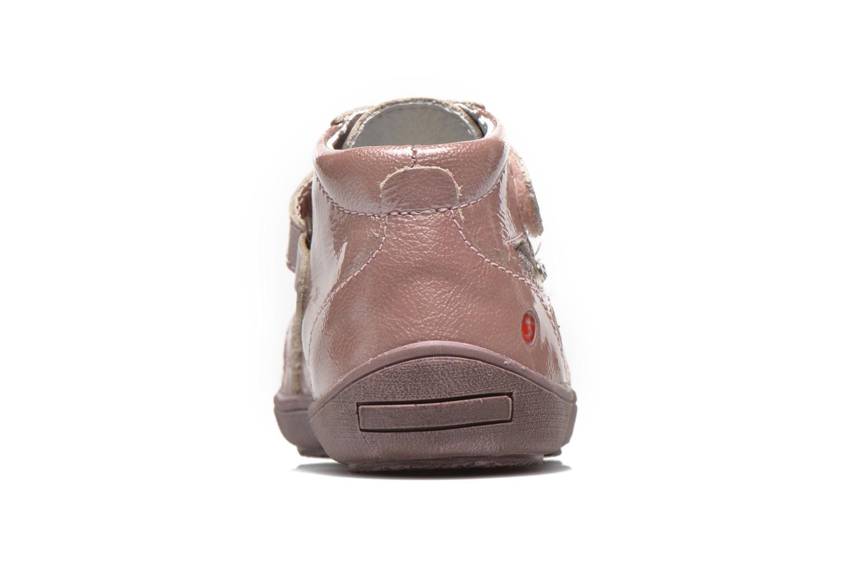 Chaussures à scratch GBB Lucine Rose vue droite