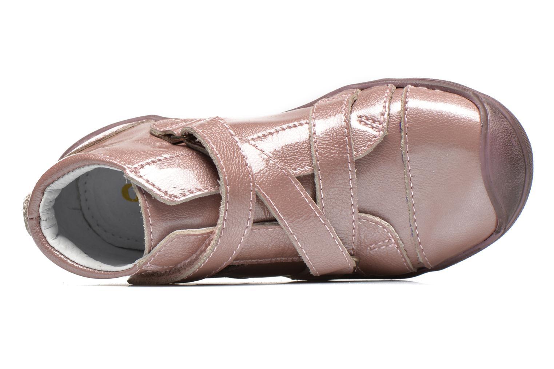 Chaussures à scratch GBB Lucine Rose vue gauche