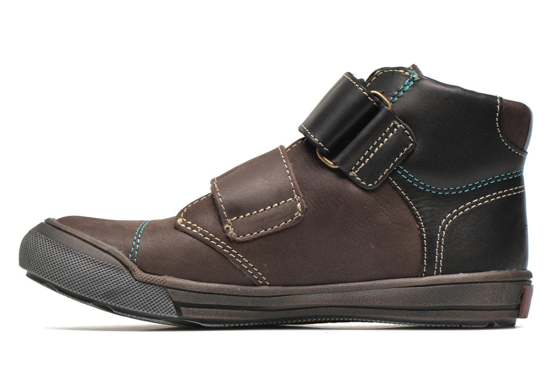 Chaussures à scratch GBB Lorencio Gris vue face