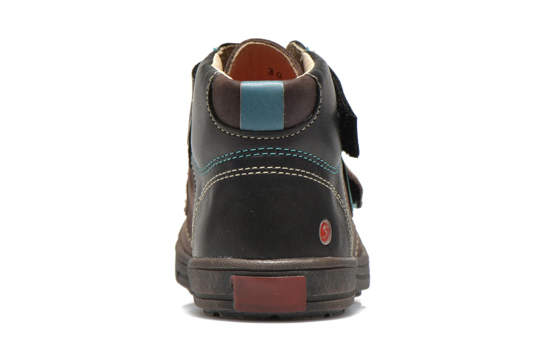 Chaussures à scratch GBB Lorencio Gris vue droite