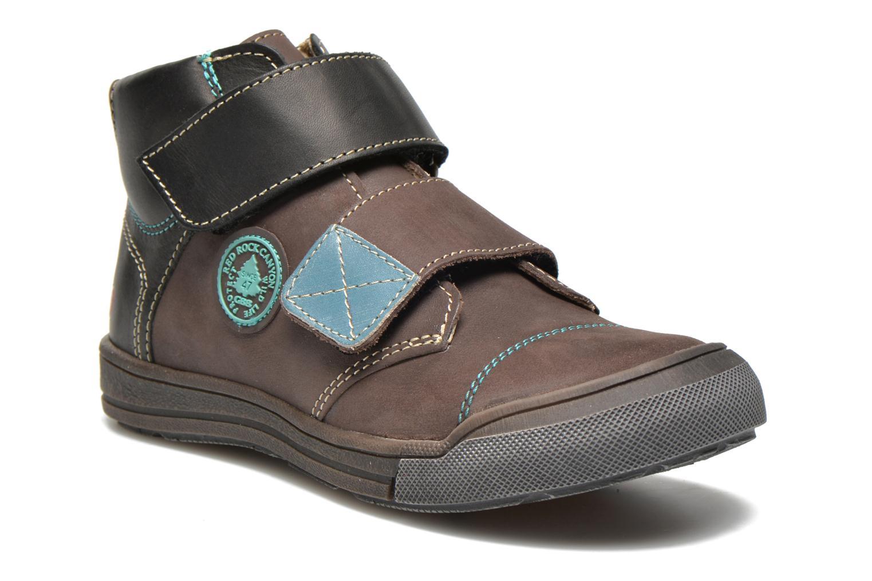 Chaussures à scratch GBB Lorencio Gris vue détail/paire